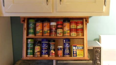 Space Saving Spice Rack Details About Spice Rack Drawer 18 Quot Wide Mounts