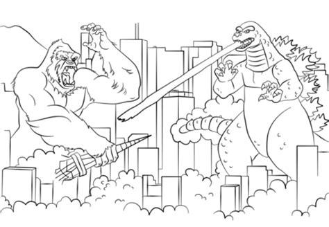 Coloring Page King Kong by Kolorowanka King Kong Kontra Godzilla Kolorowanki Dla