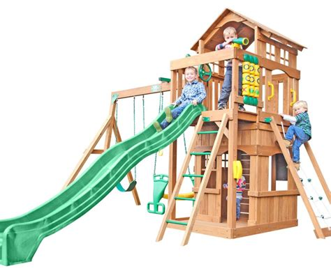 creative playthings wooden swing sets creative playthings funtime madison wooden swing set