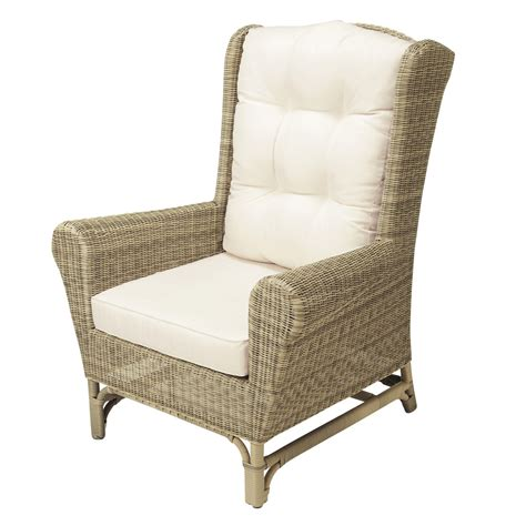 Outdoor Cing Chairs by Wicker Garden Wing Chair Rapha 235 L Maisons Du Monde
