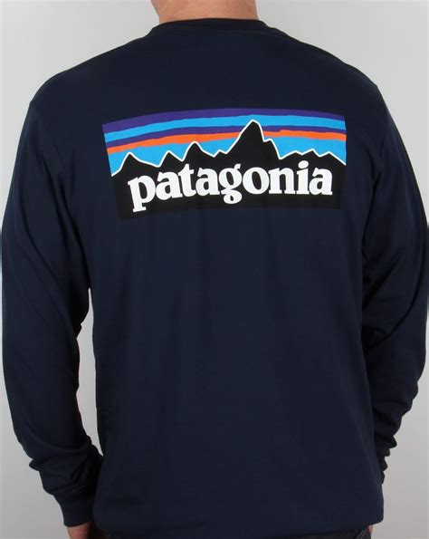 L S T Shirt patagonia p 6 logo l s t shirt navy patagonia from 80s