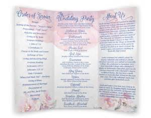 Wedding Program Vistaprint Floral Watercolor Wedding Program Tri Fold By Maneeventpromotions