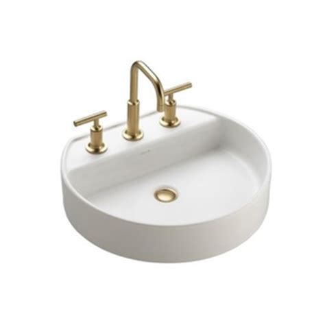 ferguson bathroom sinks k2331 4 hw1 chord vessel style bathroom sink honed white