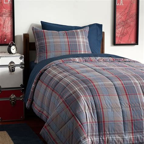 Microfleece Comforter by Heritage Plaid Deluxe Value Comforter Set Pbteen