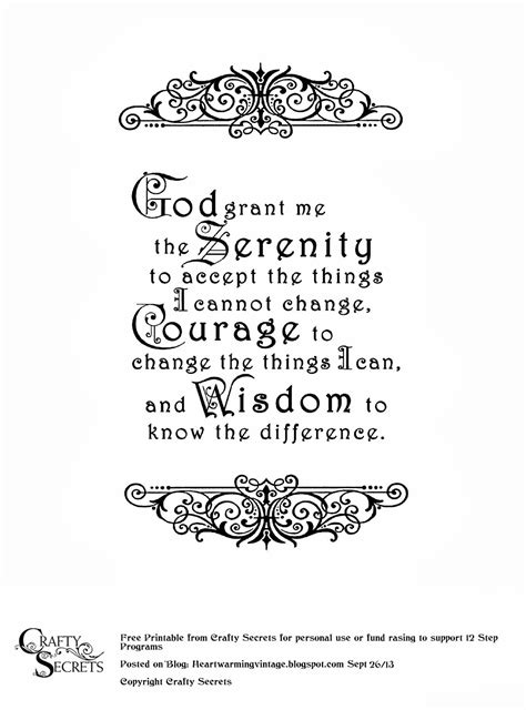 printable version of the serenity prayer crafty secrets heartwarming vintage ideas and tips free