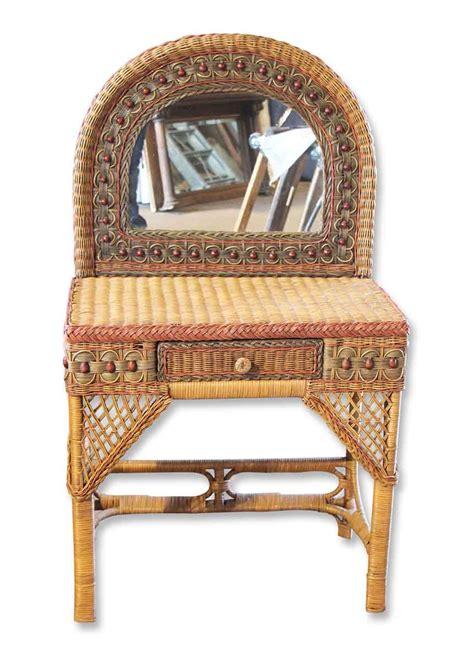 vintage wicker bedroom furniture petite vintage wicker vanity olde good things