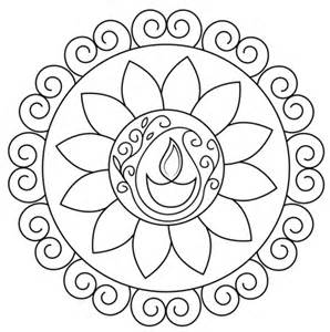 diwali coloring pages diwali rangoli coloring page free printable coloring pages