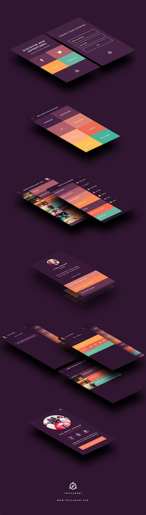 flat mobile flat mobile ui design with remarkable user experience