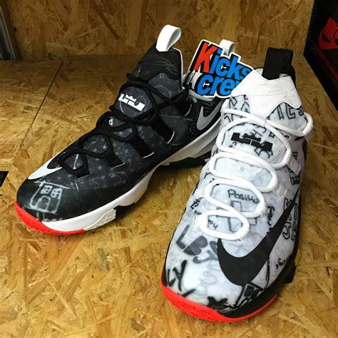 Lebron 13 Low White nike lebron 13 low graffiti black white 849782 999 sneaker bar detroit