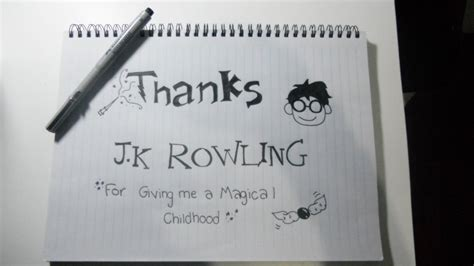 thank you letter to jk thank you j k rowling by mariu9 on deviantart