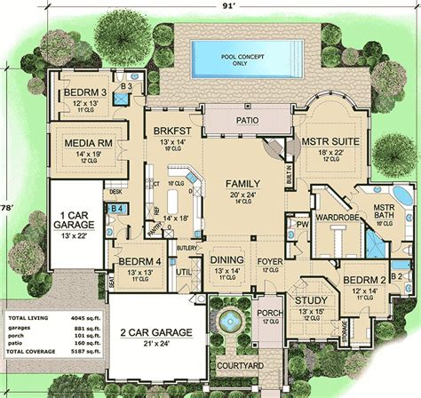 french country plans french country estate with courtyard 36180tx 1st floor