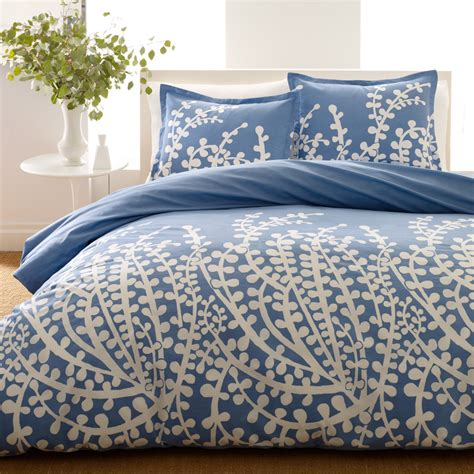 blue bed spread blue and white comforter