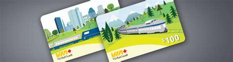 Via Rail Gift Card - give the gift of travel via rail s gift card program via rail