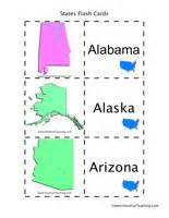 Flashcards Nouns Us States And Capitals Flash Cards Identify States By