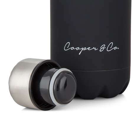 finish matte cooper co insulated water bottle 750ml black matte