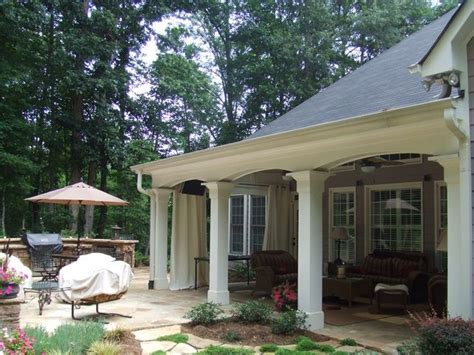 covered back porches covered outdoor living spaces outdoor living space
