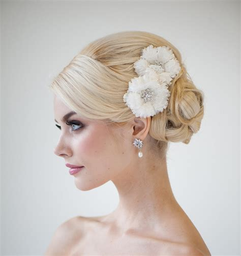 bridal hairstyles catalogue bridal flower headpiece wedding hair clips lace bridal