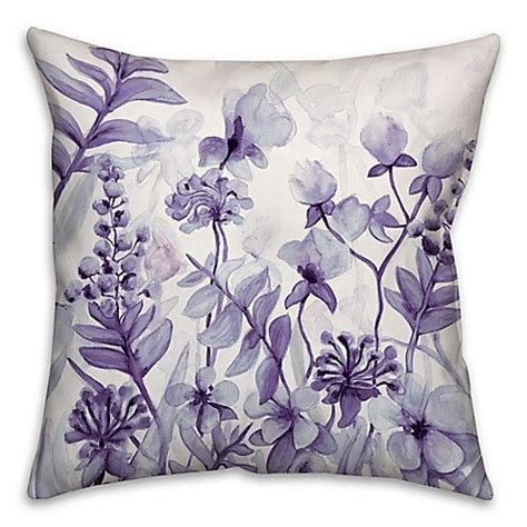 purple decorative pillows for bed flower dream square throw pillow in purple bed bath beyond