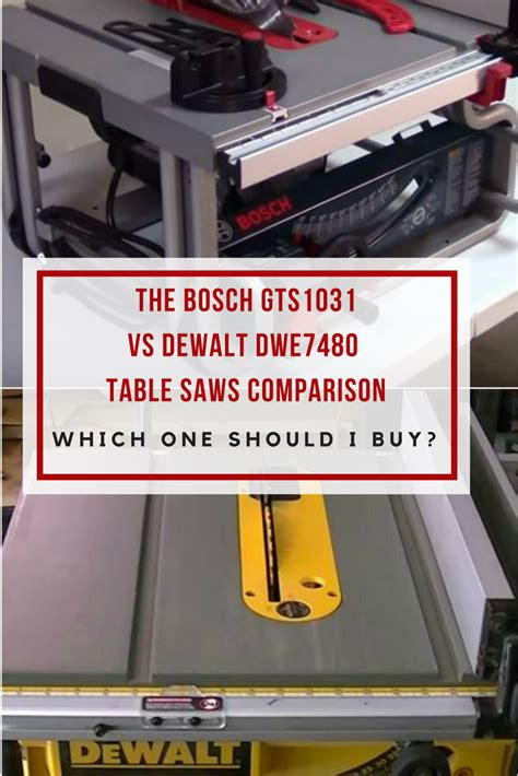bosch vs dewalt table saw table saw comparison bosch gts1031 vs dewalt dwe7480