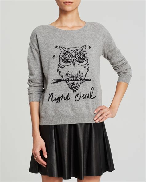 Owel Sweter miss me owl sweater cardigan with buttons