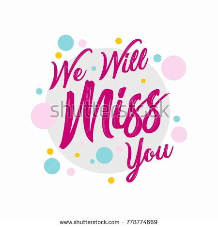 we will miss you card template farewell template we will miss stock vector