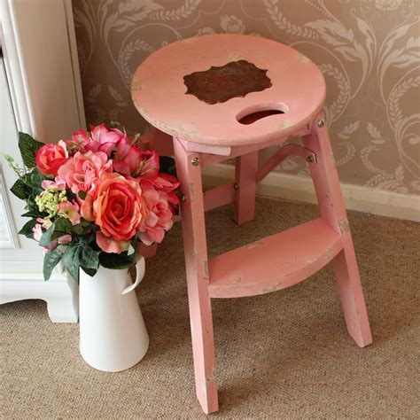 pink wooden step stool pink wooden stool melody maison 174