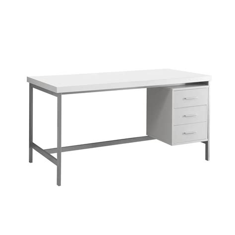 Monarch White Desk by Monarch Specialties Silver Metal White Computer Desk I