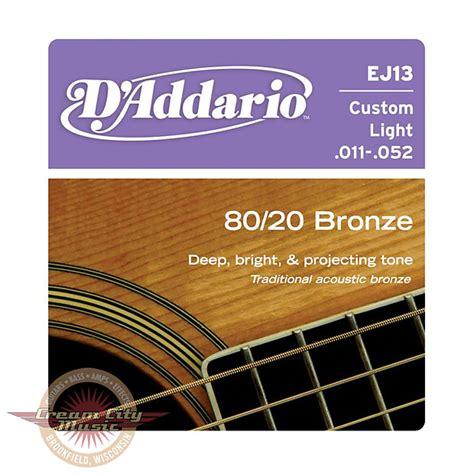 Daddario Ej13 011 Senar Gitar Acoustic D Addario Akustik Original Usa d addario ej13 80 20 bronze custom light acoustic strings reverb
