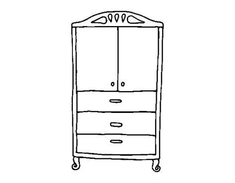 disegno armadio disegno di armadio per i vestiti da colorare acolore