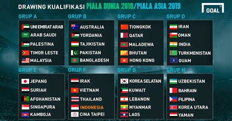 jadwal piala dunia 22 juni 2018 jadwal lengkap timnas indonesia kualifikasi piala dunia