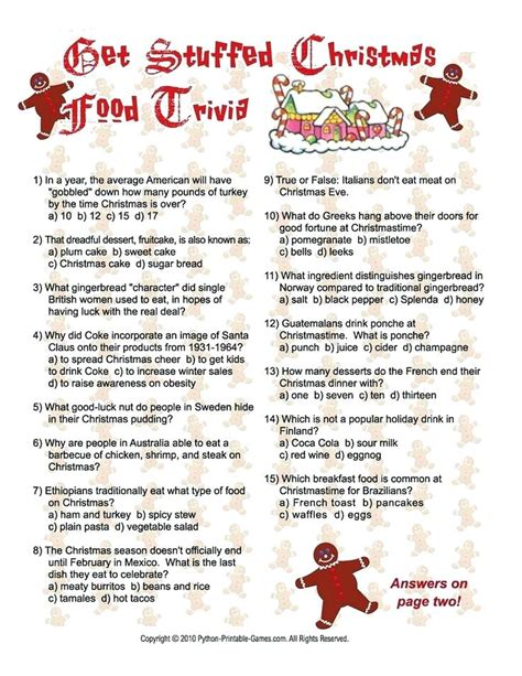 Winter Trivia Questions And Answers Printable