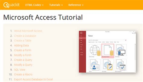 online tutorial microsoft access how to learn microsoft access 5 free online resources