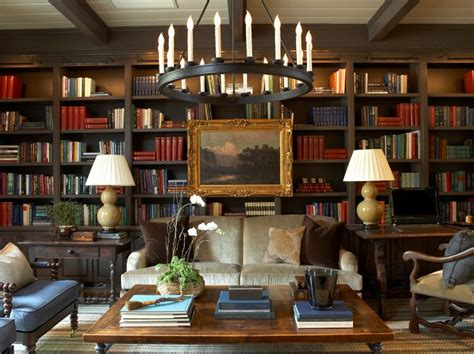 home library lighting design bookcases