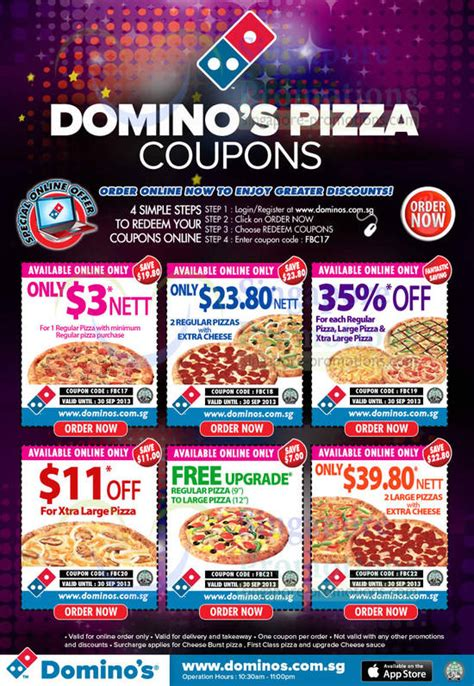 domino pizza free delivery domino s pizza delivery discount coupon codes 6 30 sep 2013
