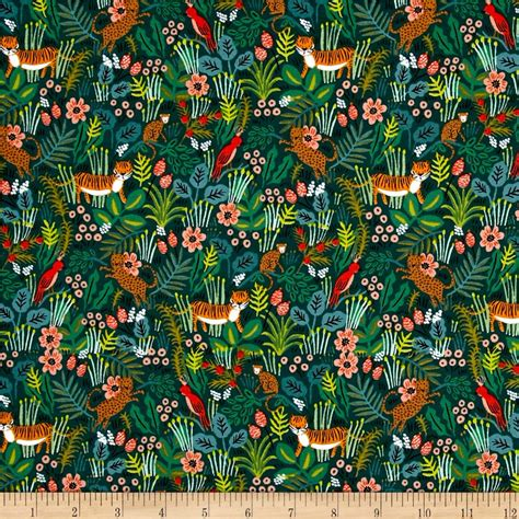 Fabric Paper - cotton steel rifle paper co menagerie jungle