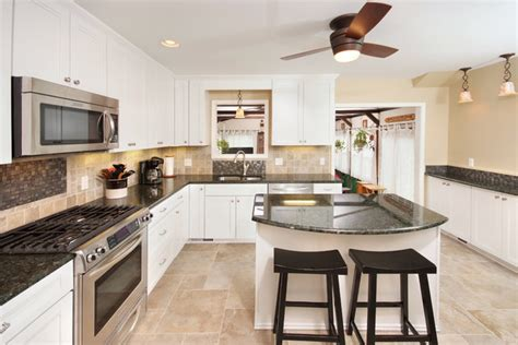 Modern white cabinets   Contemporary   Kitchen   Cleveland