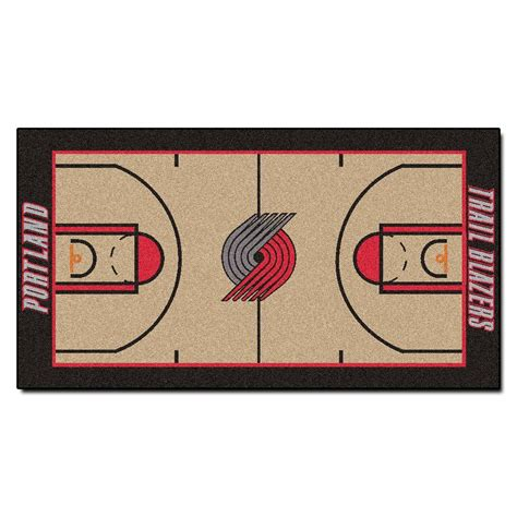 nba oklahoma city thunder rug basketball runner carpet fanmats portland trail blazers 2 ft 6 in x 4 ft 6 in