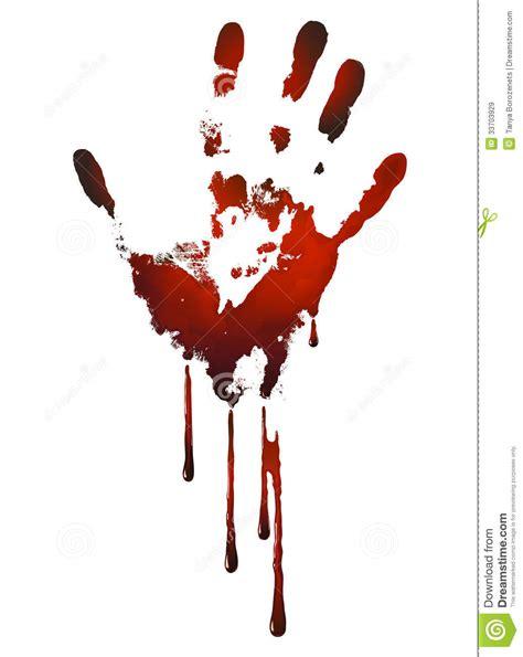 bloody handprint stock vector image of drip