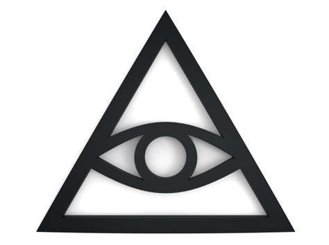 illuminati triangle eye illuminati sign 3d printing model