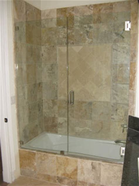 frameless bathtub enclosures frameless shower door gallery