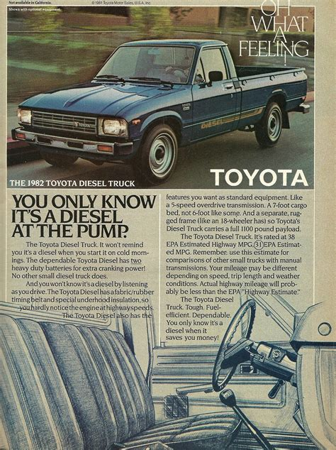 toyota truck diesel old toyota truck ads chin on the tank motorcycle stuff