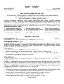 Free Resume Sles Restaurant Management Exle Of Management Resume Entry Level Administrative Assistant Resume