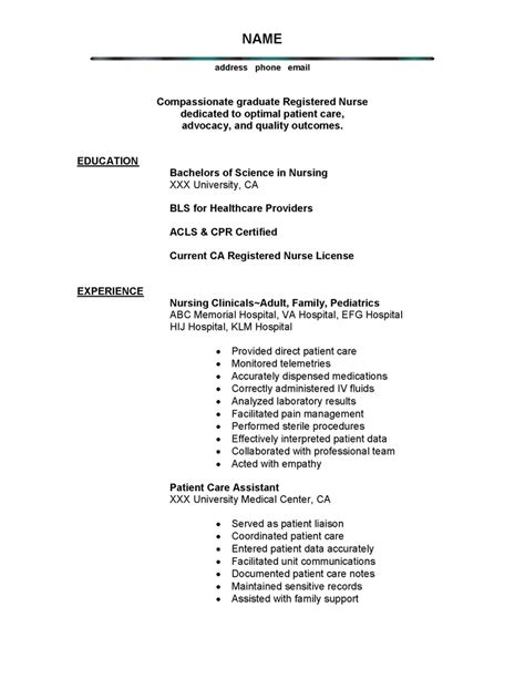 Best Resume Templates For It Professionals by Nursing Resume Prossample Nursing And Medical Resumes