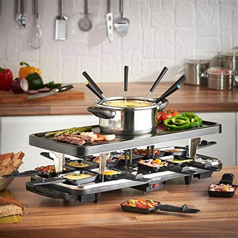 Raclette Grill Dubai by Vonshef Raclette Grill With 6 Fork Fondue Set And 12