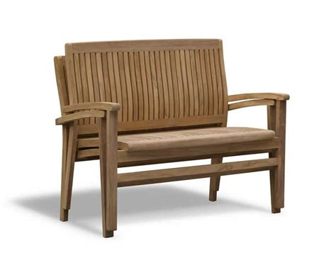 stacking benches bali teak 2 seater stacking bench