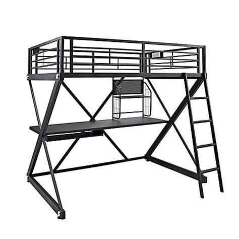 powell loft bed with desk buy powell z bedroom full size study loft bunk bed from