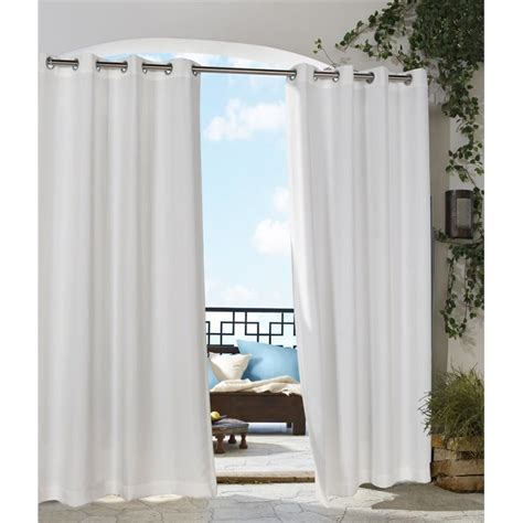 white outdoor curtain panels commonwealth outdoor decor gazebo 84 quot grommet curtain