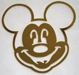 Disney mickey mouse face brass template by ohmystarsproductions