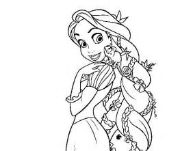 free coloring pages of rapunzel braid