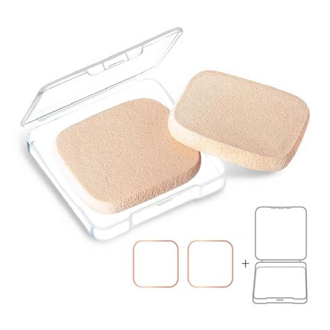 Vdl Compact Powder Puff 2pcs kooba 2pcs oval makeup sponges with 1 travel